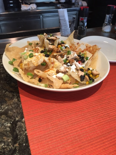 Asian Chicken Nachos